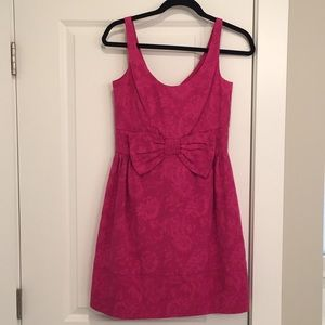 Taylor textured dress with bow